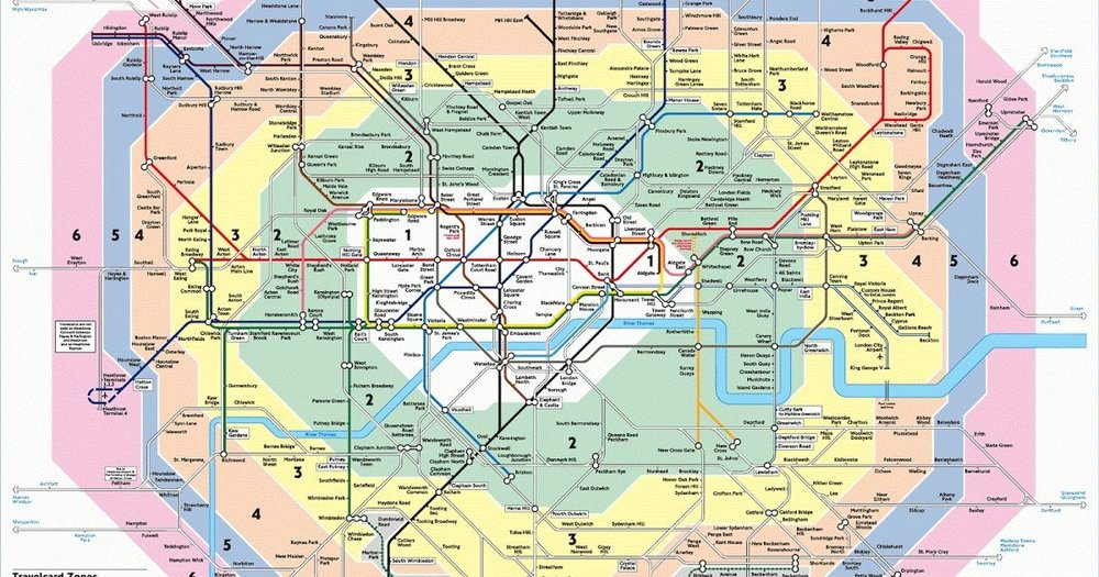 Here's a map from the transports website to give you an idea about the London zones I mentioned above and they expand up to 6