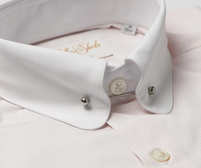 Pink Pin Collar Shirt