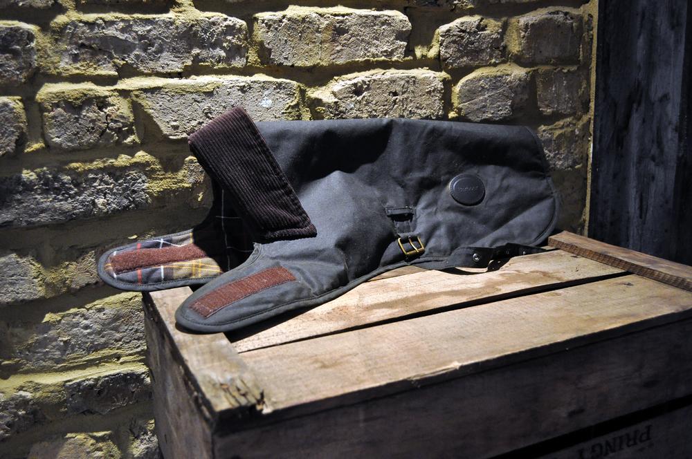 Barbour Olive Wax Dog's Jacket