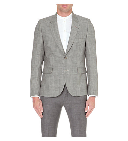 Paul Smith - Prince of wales check mohair and wool-blend jacket