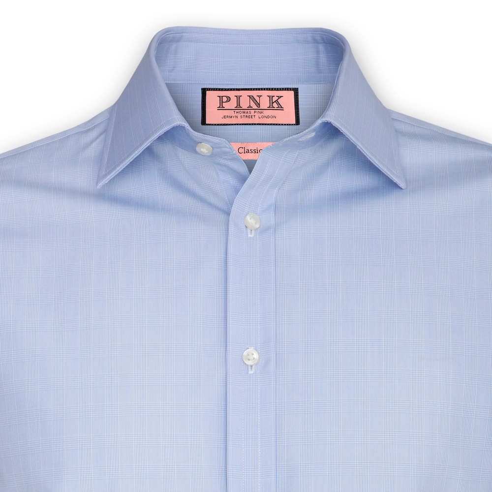 Pink Blue PoW Check Shirt