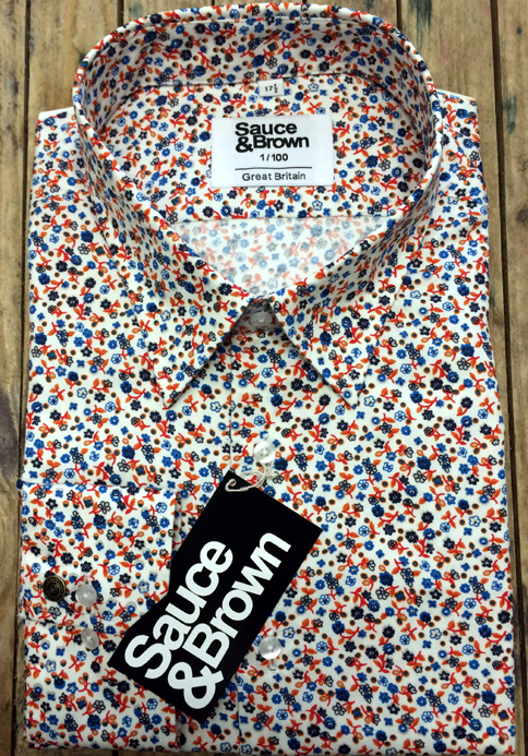 Sauce & Brown Floral Print Shirt