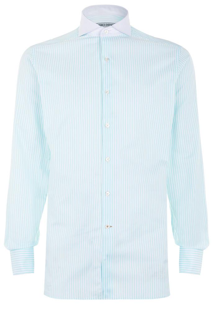 Hawkins & Shepherd Mint Green Stripe Shirt