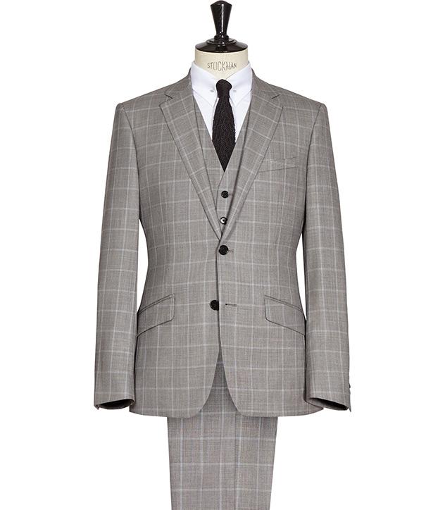 Grey Window Pane Suit