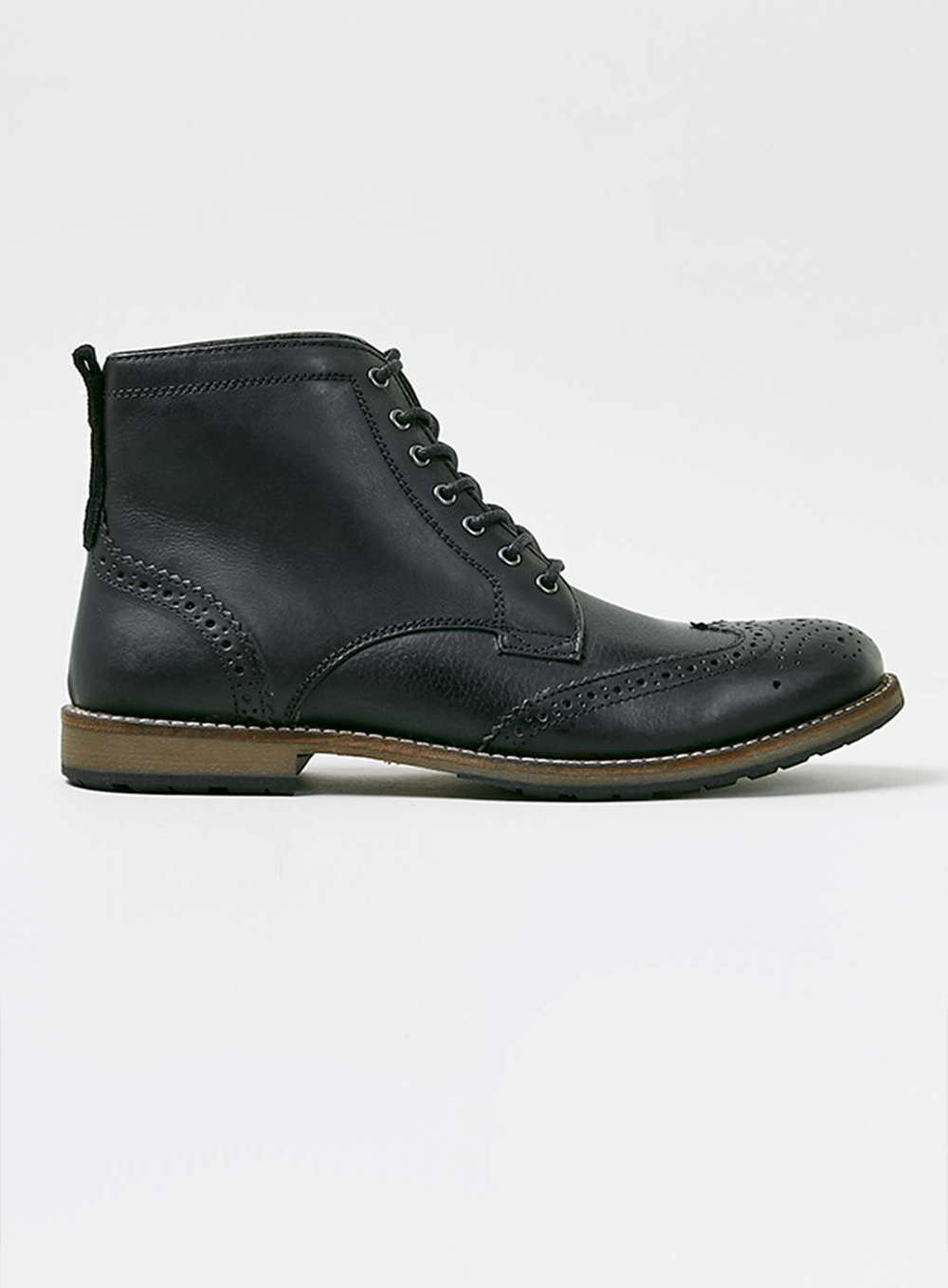 Topman Black Brogue Boots