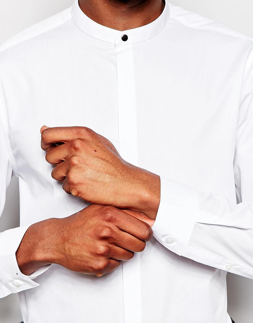 ASOS White Granddad Shirt
