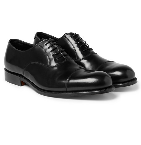 Grenson Polished Leather Black Shoes