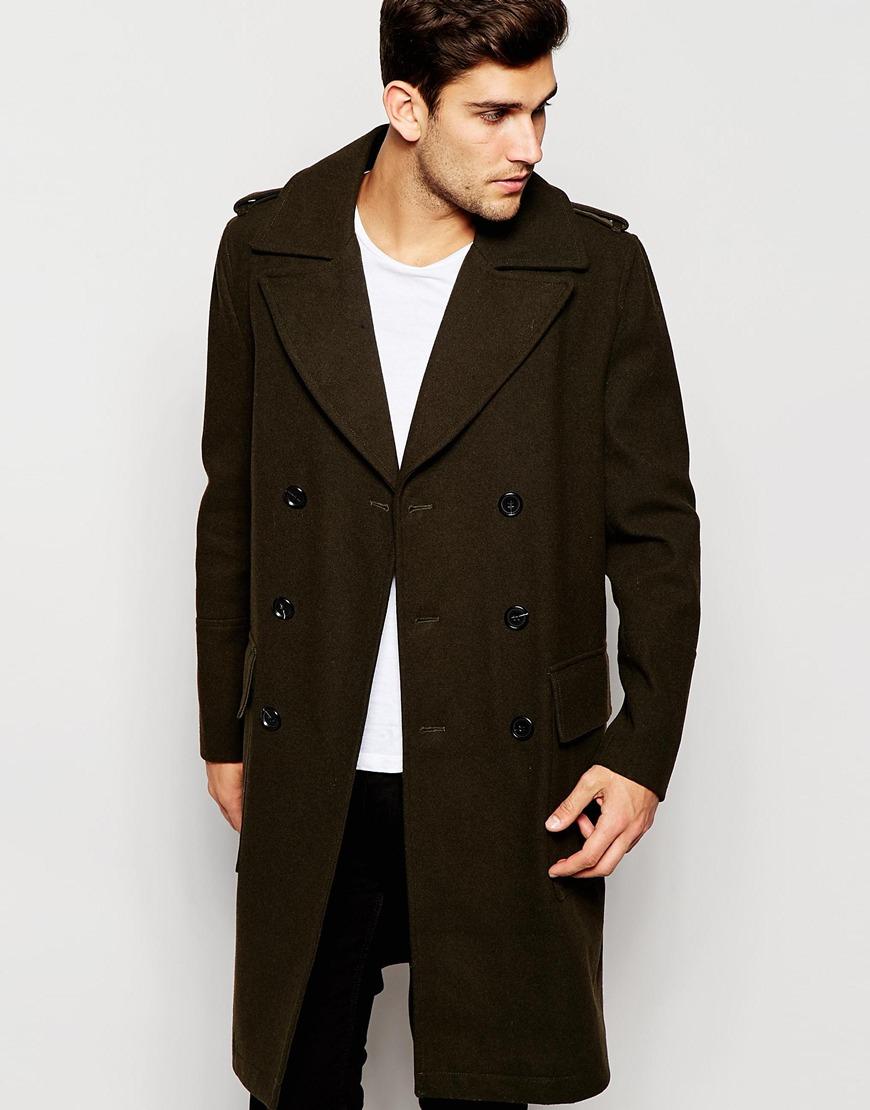 Khaki Double Breasted Over Coat
