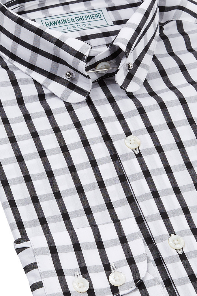Monochrome Pin Collar Shirt
