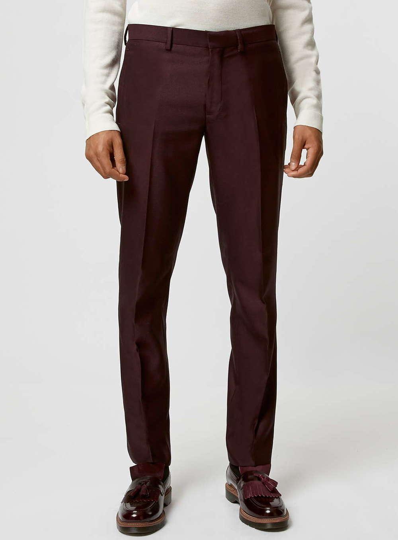Topman Burgundy Trousers