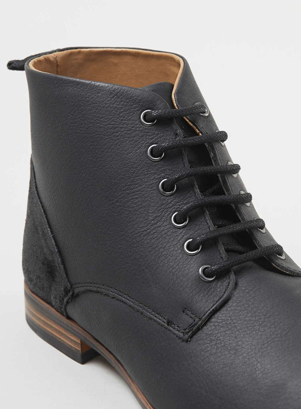 Topman Black Leather Boots