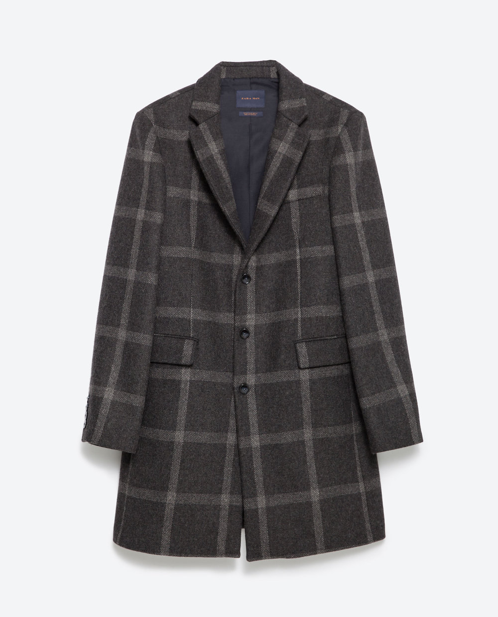 Zara Window Pane Check Coat