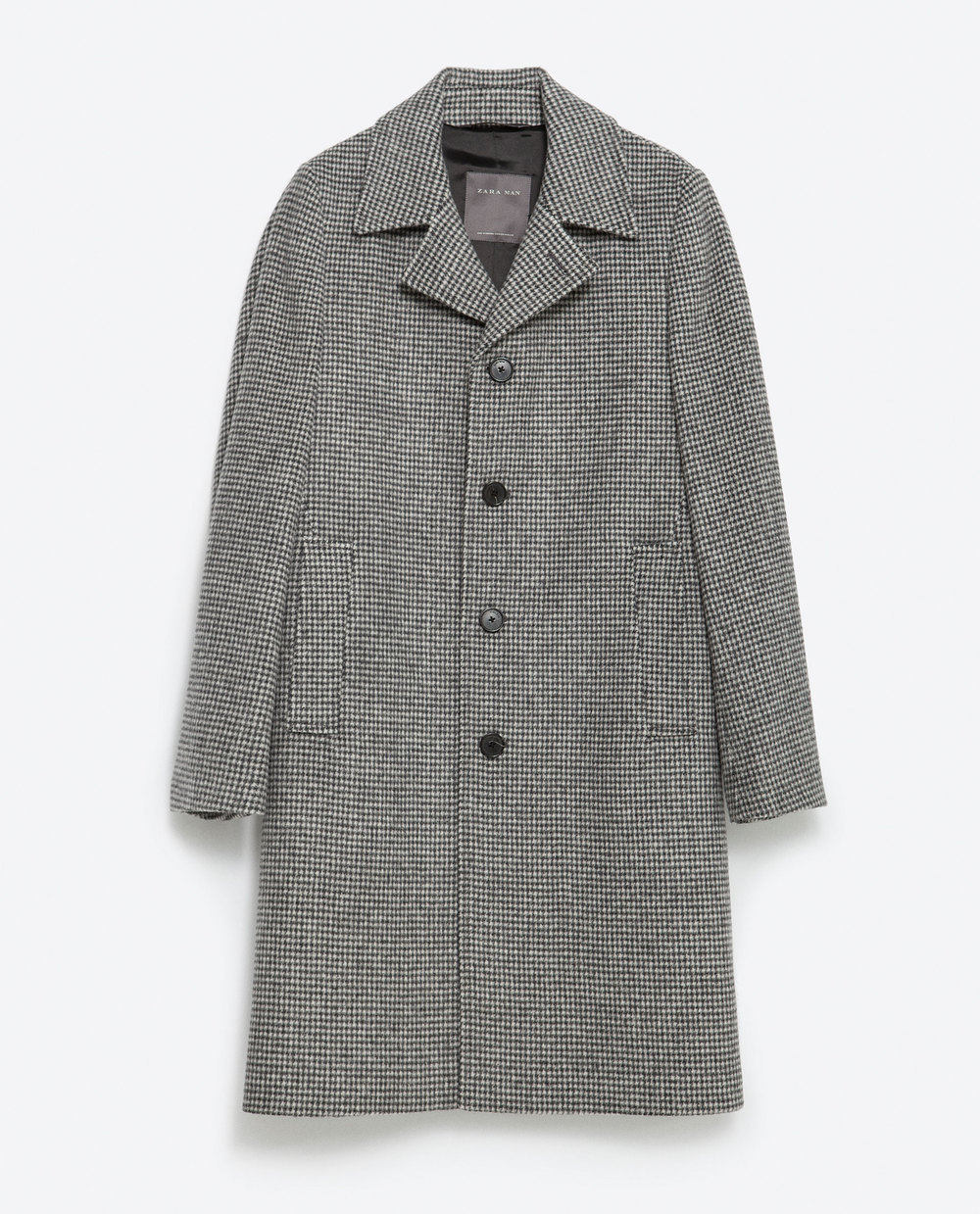 Grey Houndstooth Coat
