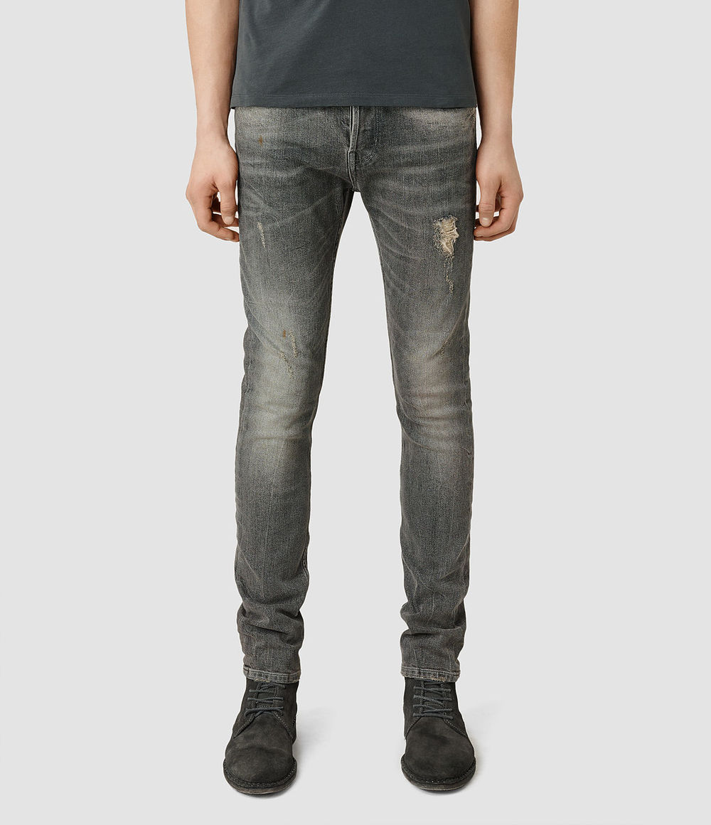 Allsaints Grey Ripped Jeans
