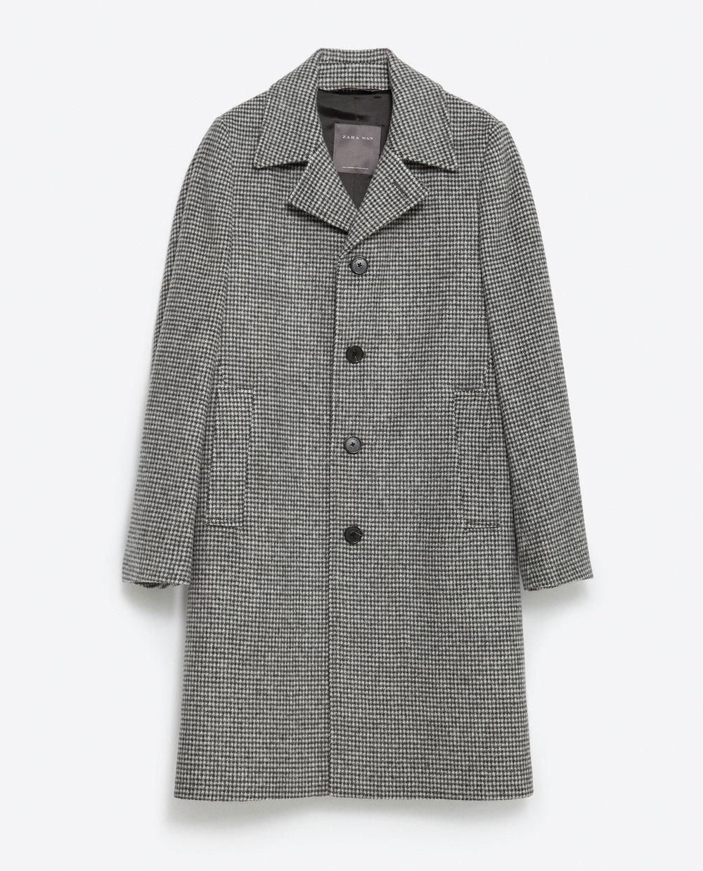 Zara Houndstooth Coat