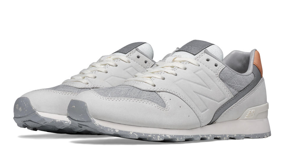 New Balance White Grey & Tan