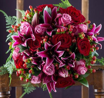 Violet & Red Roses