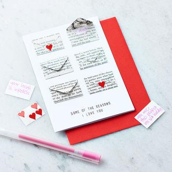 Valentines Message Card