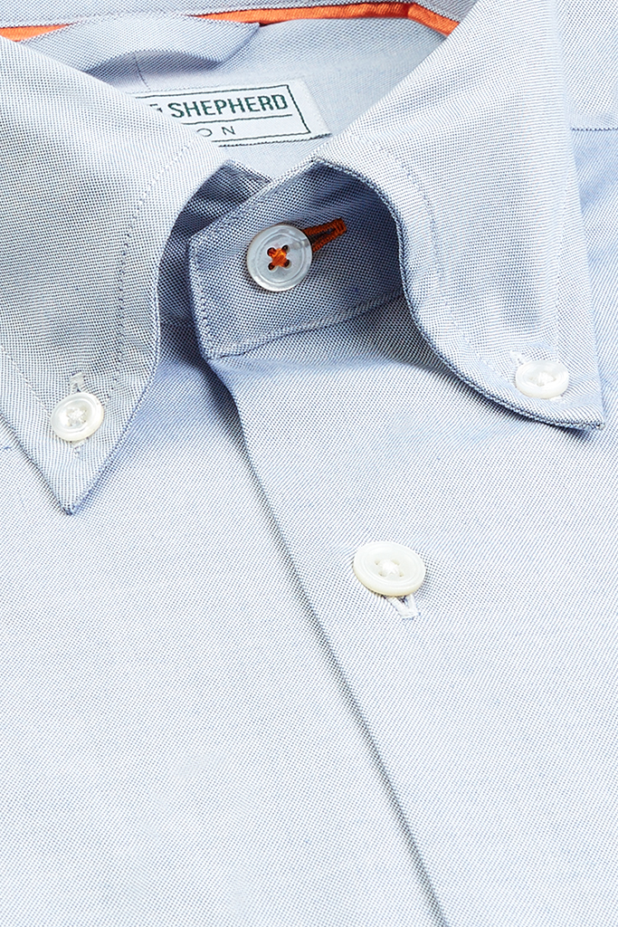 Blue Button-Down Shirts