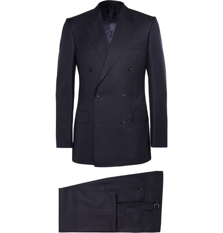 Navy Double Breasted Suit