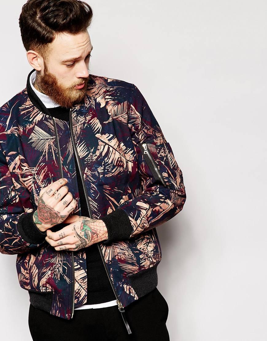 Floral Bomber Jacket