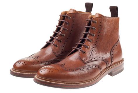 Tan Brogue Boots