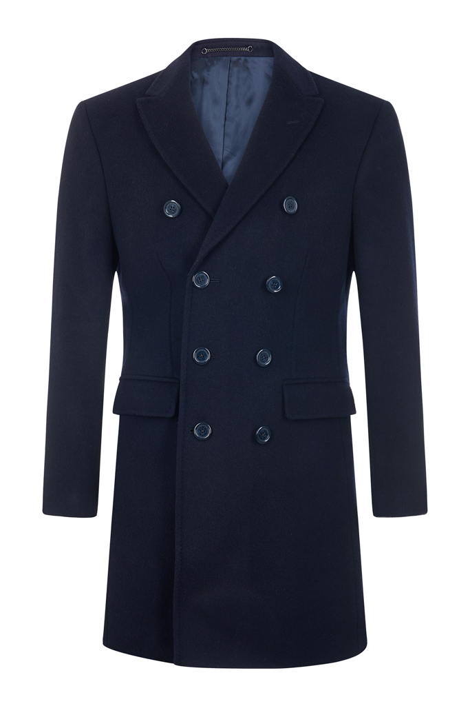 Mens Double-Breasted Overcoat