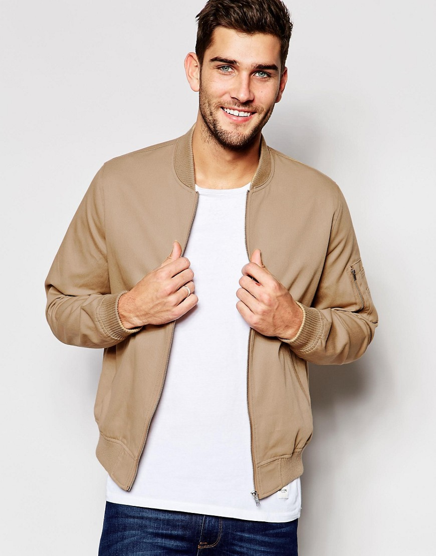 ASOS Camel Bomber Jacket