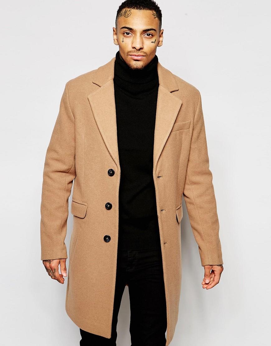 ASOS Camel Overcoat
