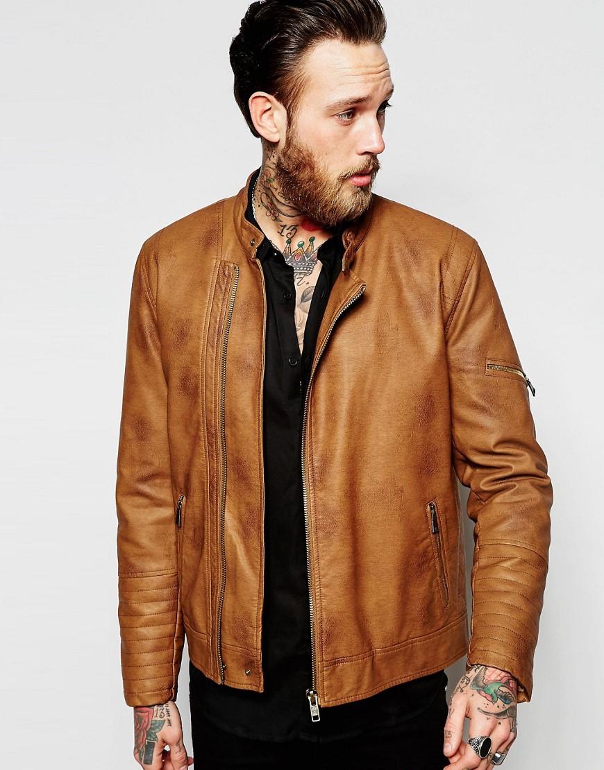 ASOS Tan Biker Jacket