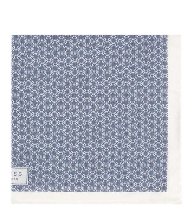 Blue Geometric Print PocketSquare