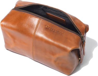 Cornerstone Leather Wash Bag