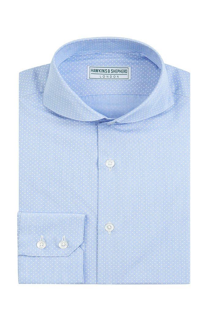 Micro Polka dot extreme cutaway shirt