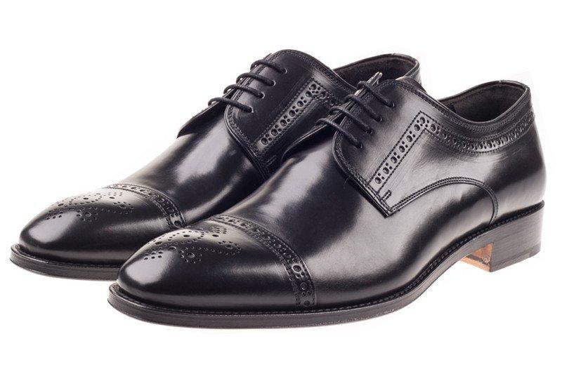 Black Semi-Brogue Shoes