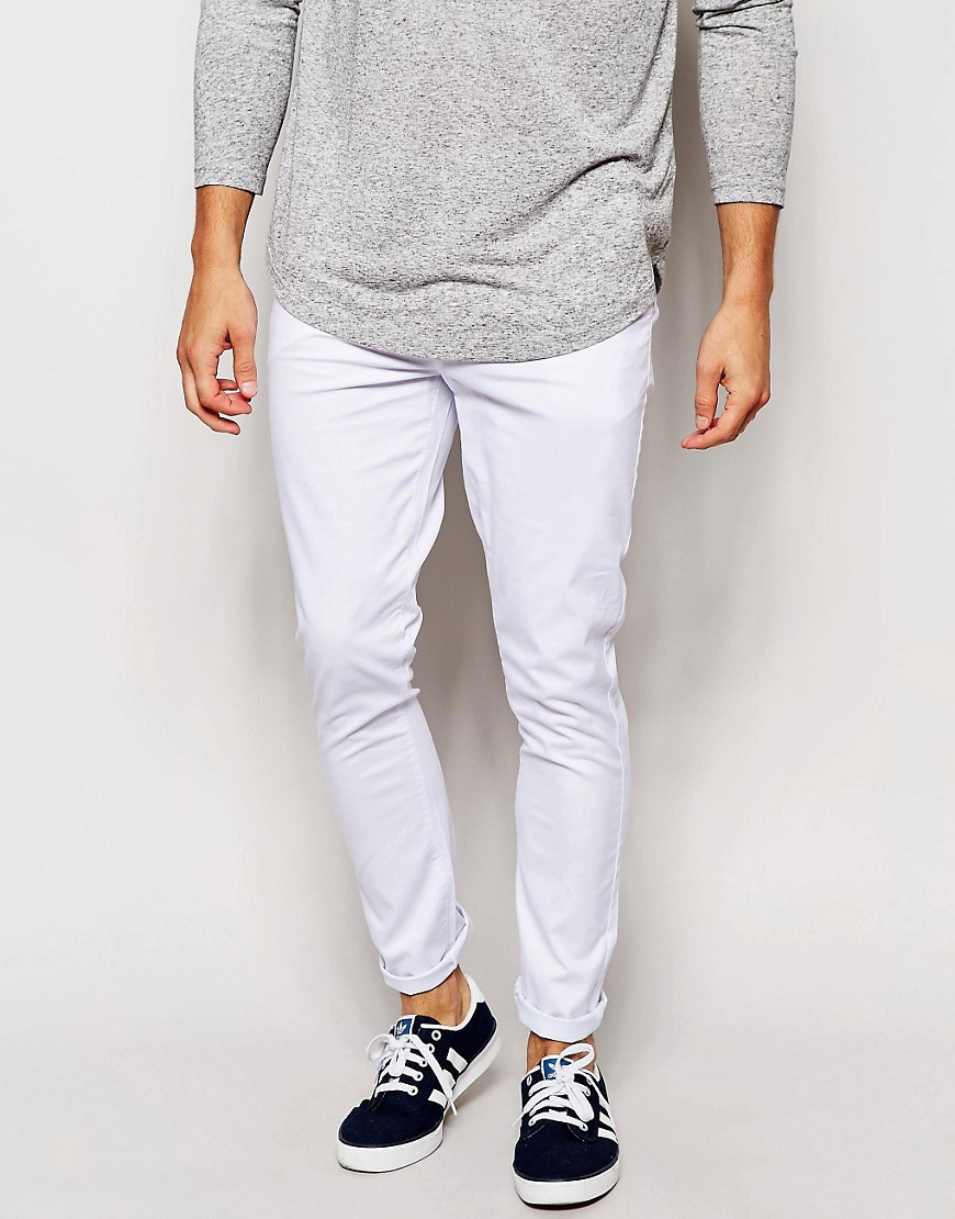 Slim White Chino Trousers
