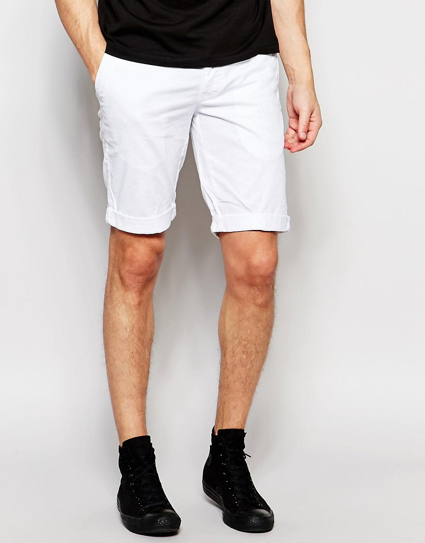 White Chinos Shorts