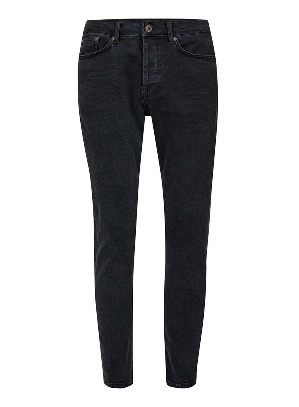Topman Washed Black Jeans