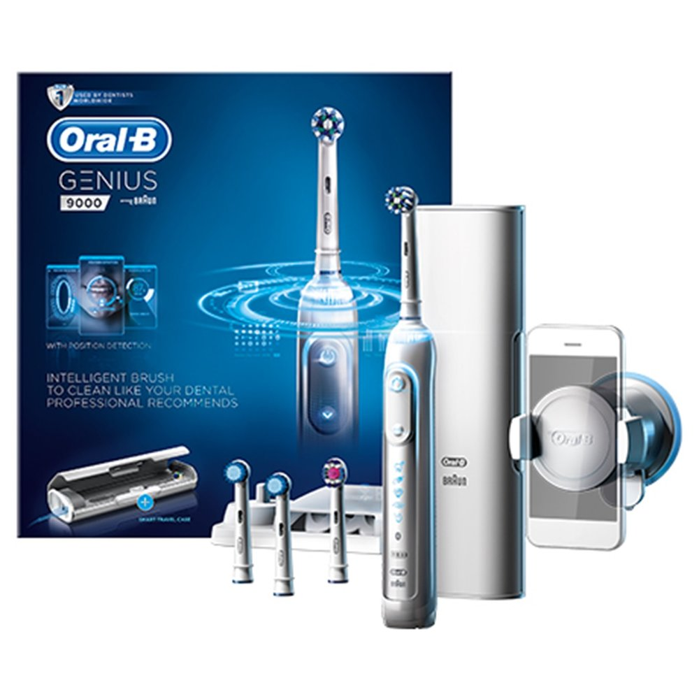 Oral-B GENIUS 9000 White Electric Rechargeable Toothbrush Powered by Braun