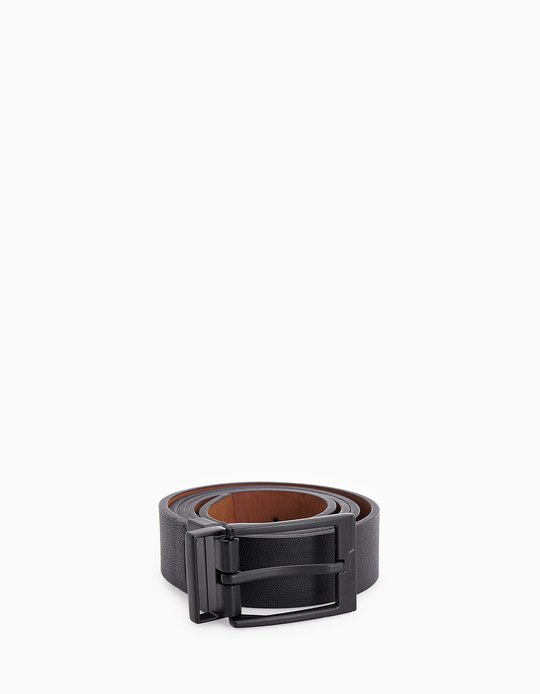 RUBBER-FINISH REVERSIBLE BUCKLE BELT