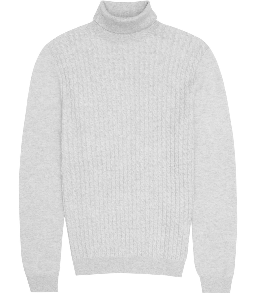 Reiss Grey Roll-neck Jumper
