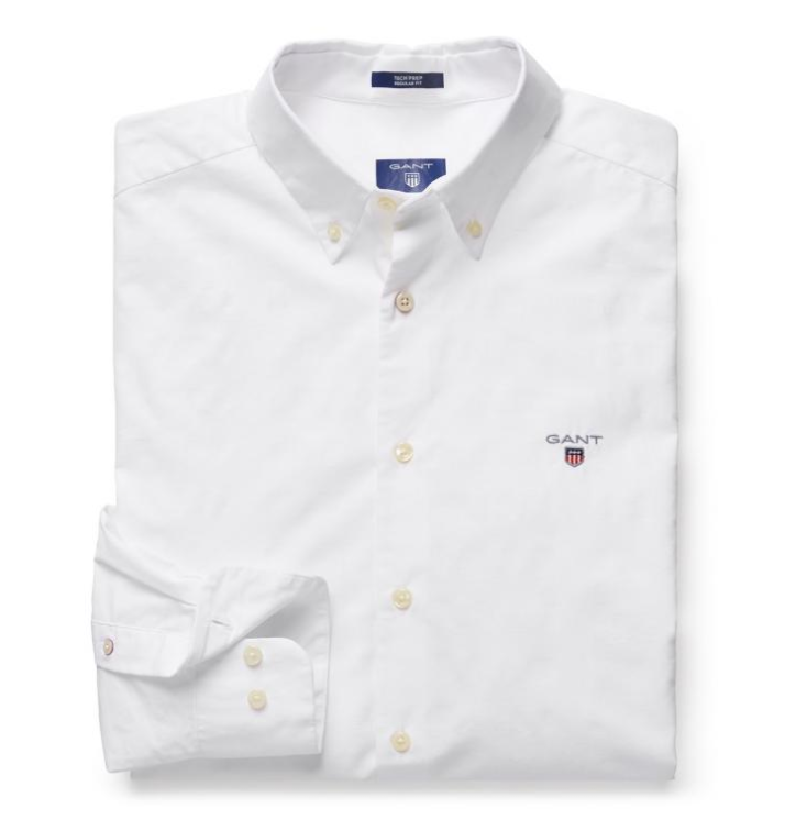 GANT Tech Prep Solid Shirt - White