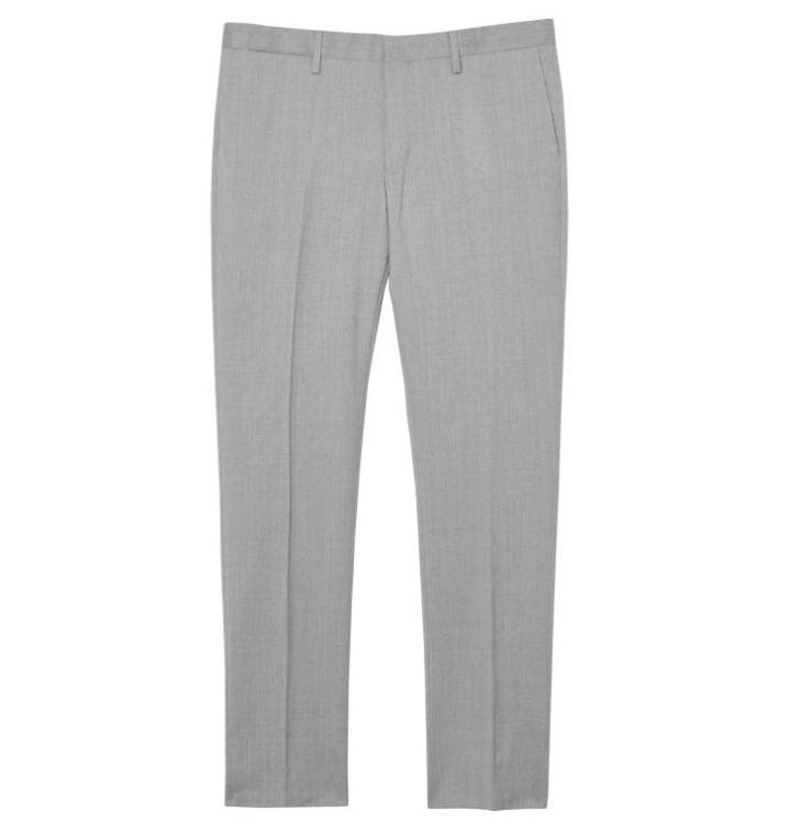 GANT Diamond G Tailored Slim Travel Pants - Grey Melange