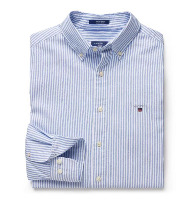GANT Tech Prep Blue Stripe Shirt - Blue Stripe