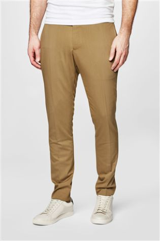 NEXT Tan Suit Trousers