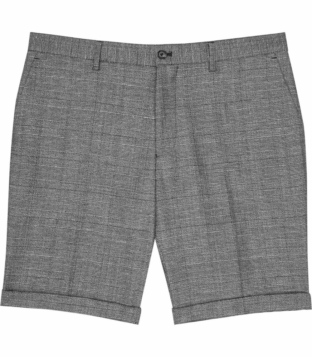 Grey Tailored Shorts