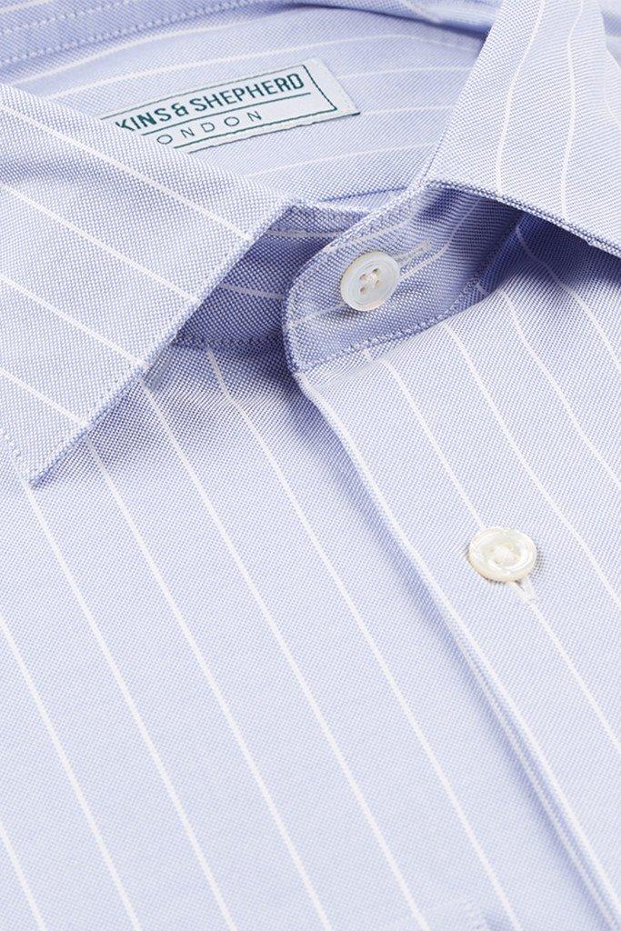 Blue Oxford Shirt by Hawkins & Shepherd