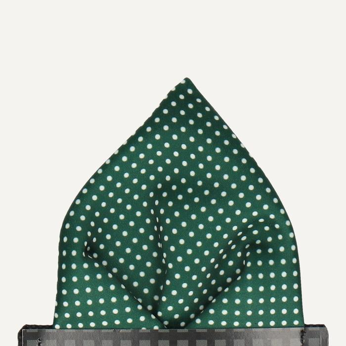 Green Polka Dot Pocket square
