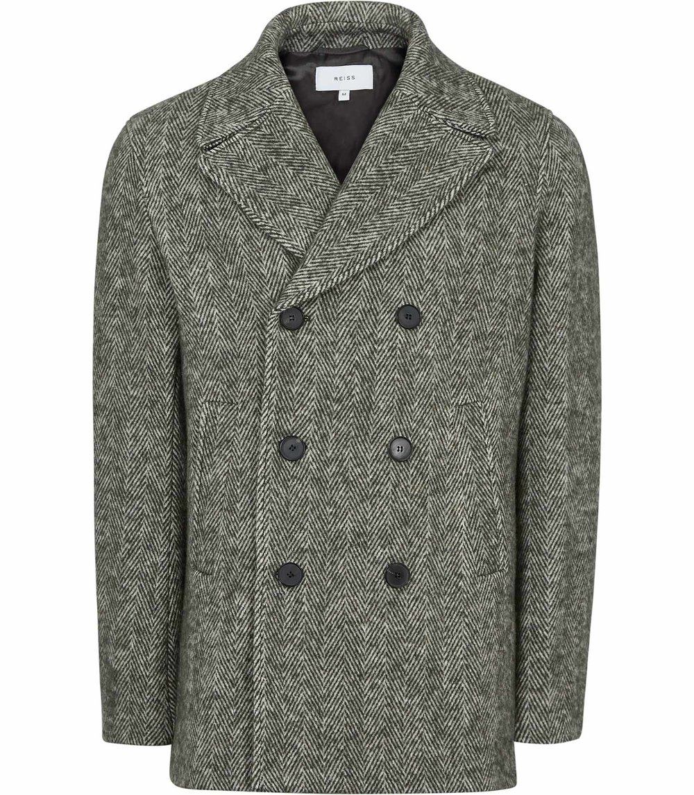 REISS DOUBLE-BREASTED PEACOAT