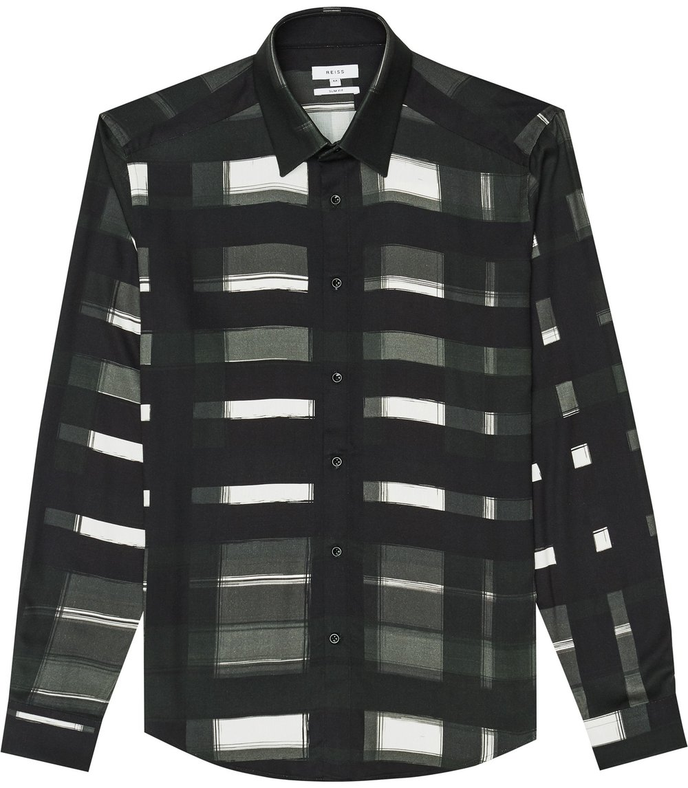 REISS PAINTERLY CHECK SHIRT