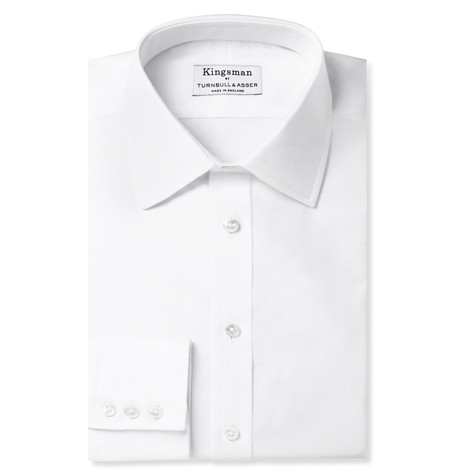 Kingsman x Turnbull & Asser White Cotton Royal Oxford Shirt